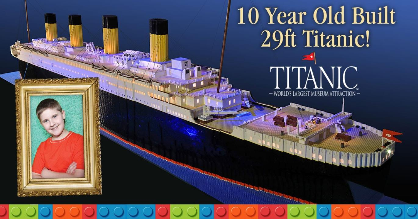 See the World's Largest TITANIC ship built from 56,000 LEGO Blocks