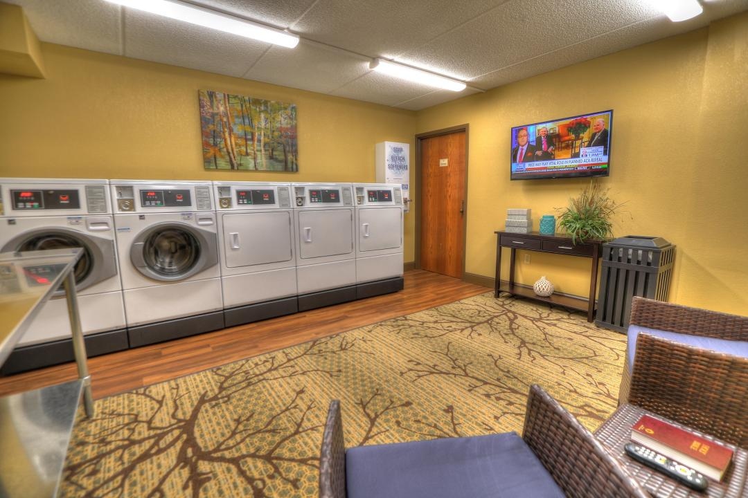 State of the Art On-Site Guest Laundry Room