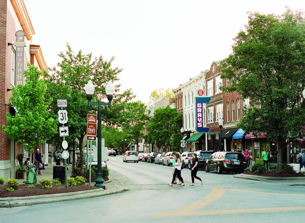 The heart of Franklin is designated a Great American Main Street and is listed on the National Register of Historic Places