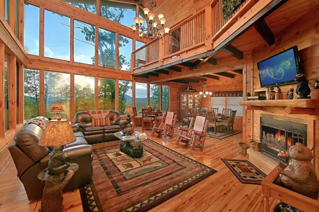American mountain rentals by natural retreats in pigeon for Luxury pet friendly cabins pigeon forge