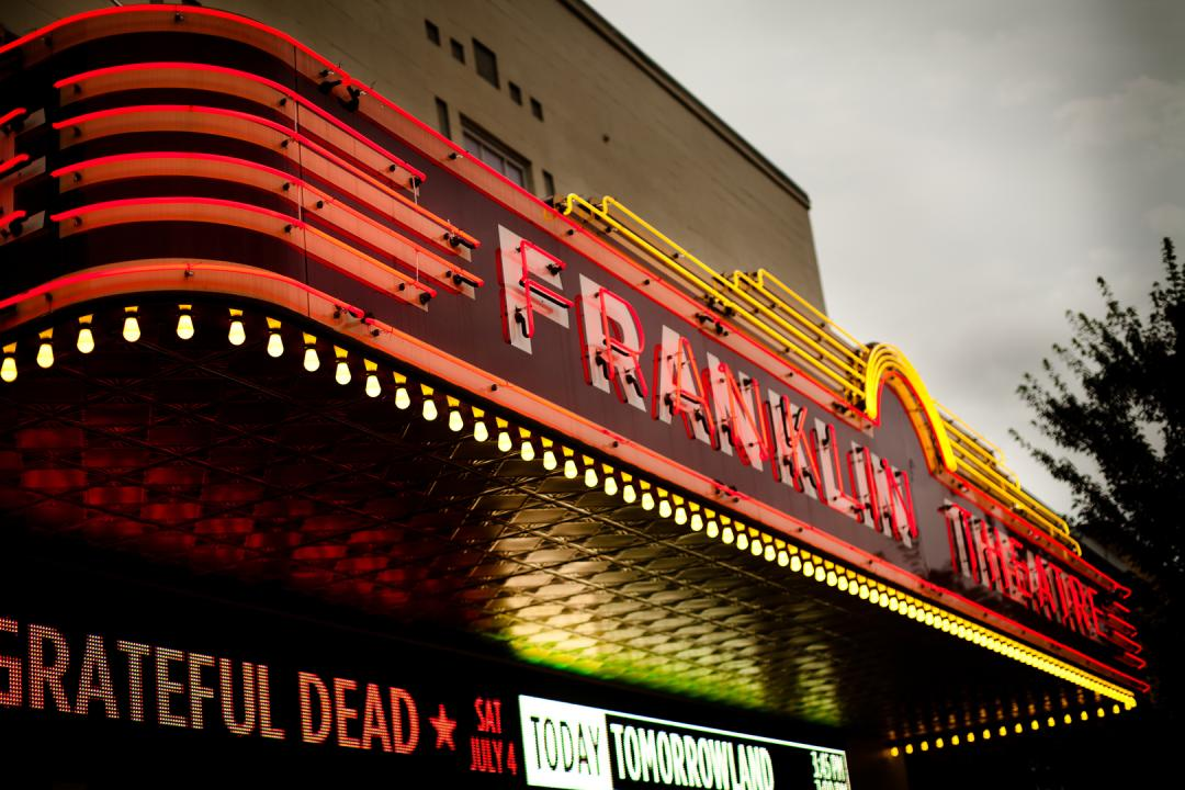 The historic Franklin Theatre on Main Street in Franklin, Tennessee