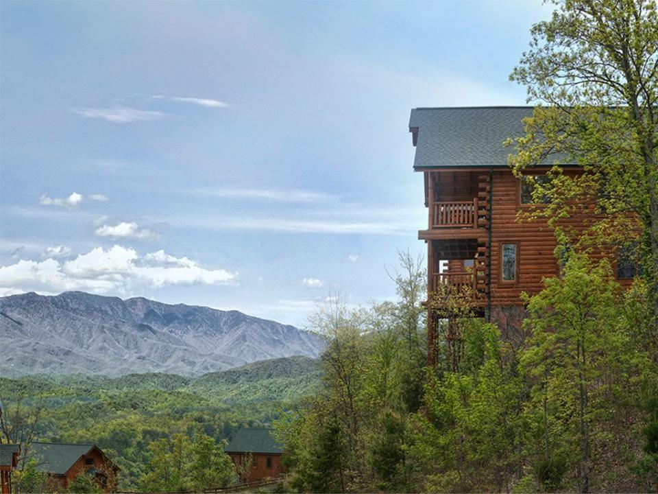 View Mt. LeConte from the comforts of your own spacious deck.