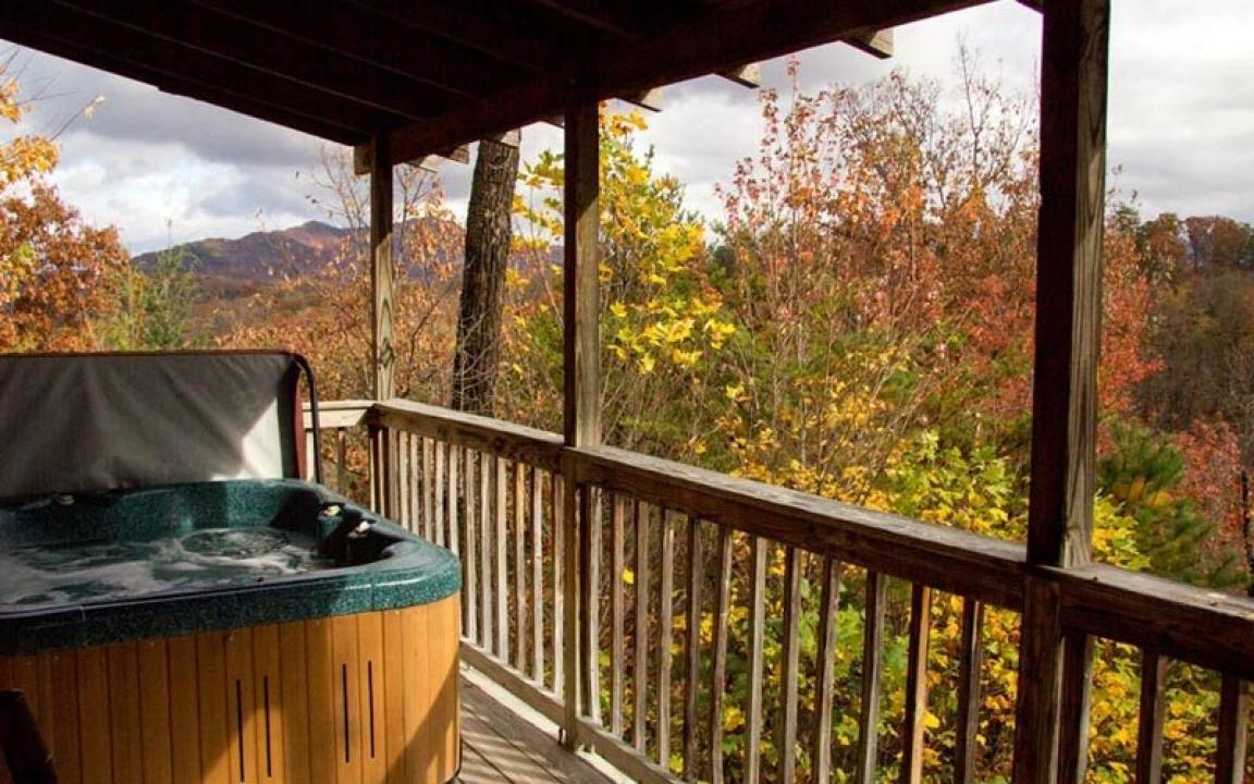 Secluded Pigeon Forge Cabin with Mountain View
