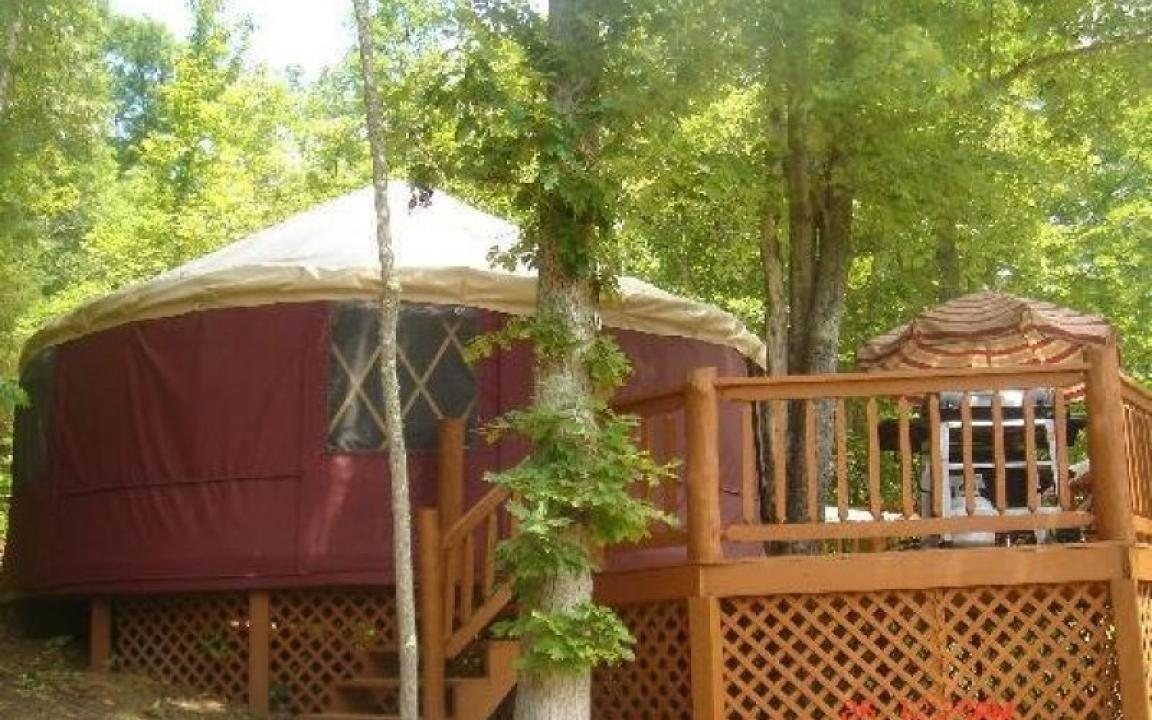 blanche manor yurts in copperhill tn tennessee vacation