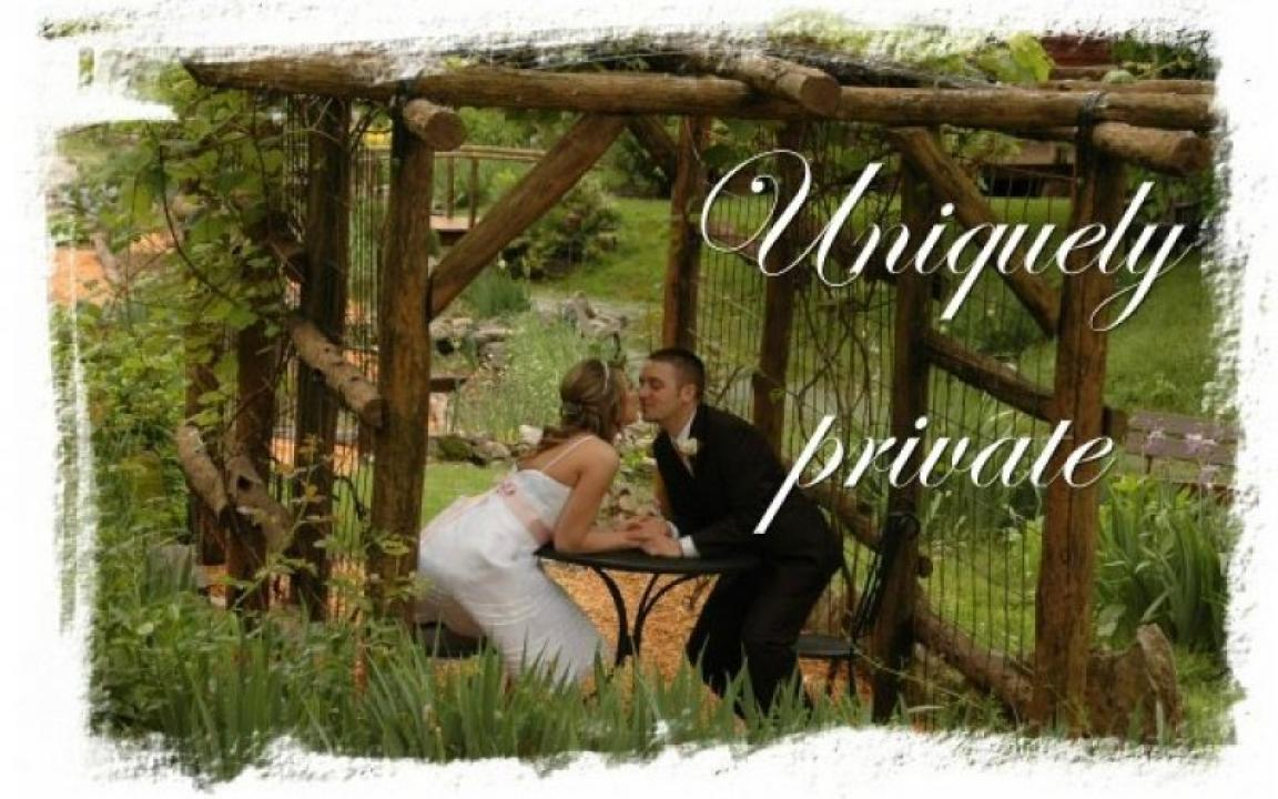 Uniquely private ceremonies at Butterfly Hollow