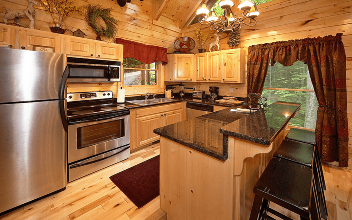Luxury cabin kitchen