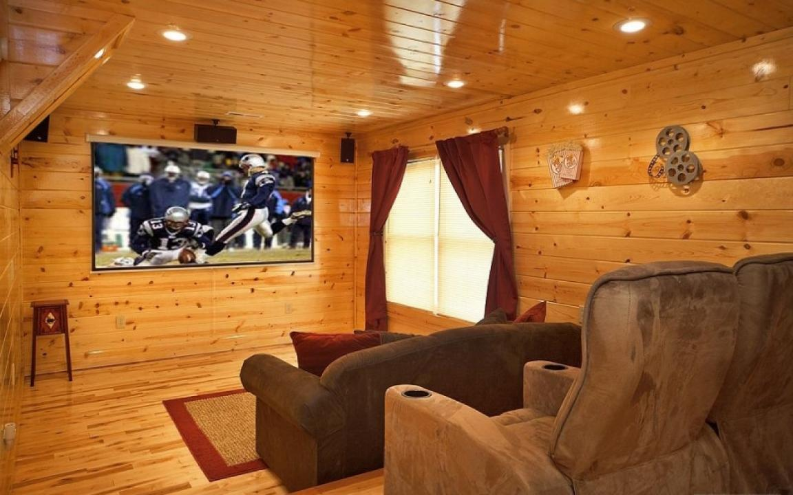 Cabin with a theater room