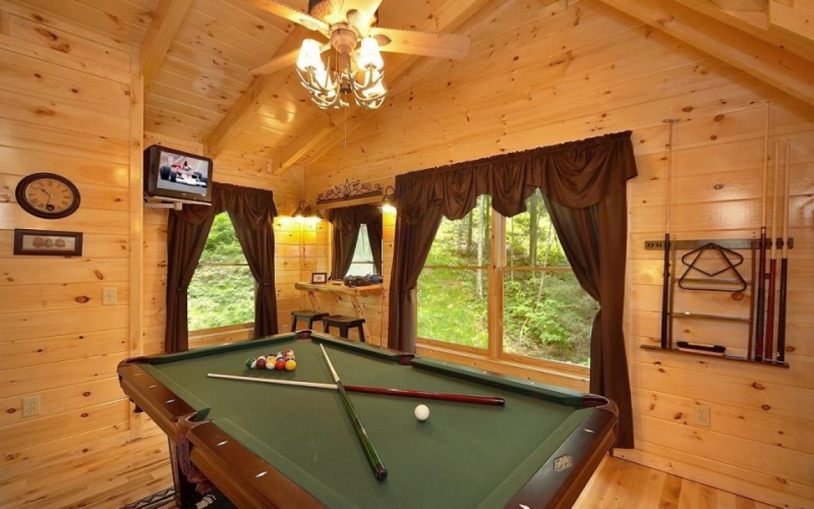 Game room in the smokies