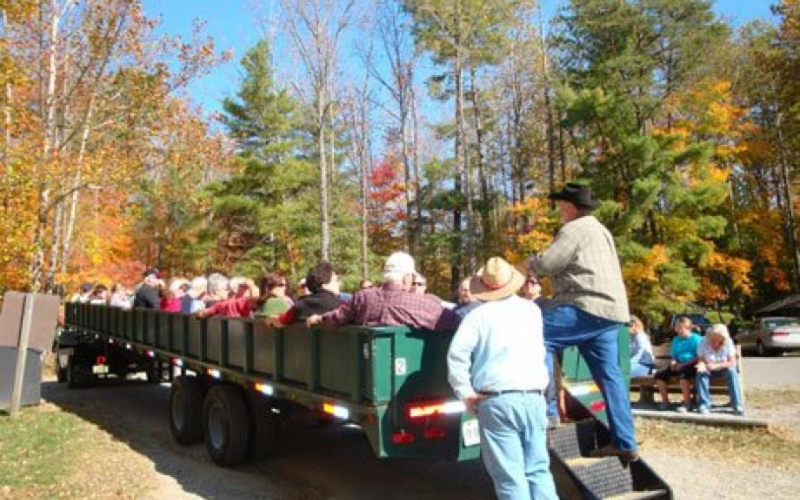 Our hayrides are fully narrated. You'll learn about the early settlers in Cades Cove