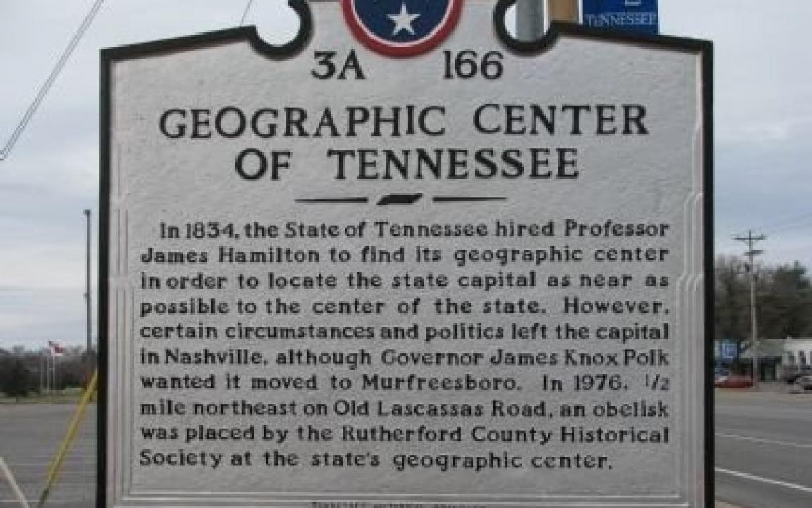 Tennessee rutherford county lascassas - Geographic Center Of Tennessee