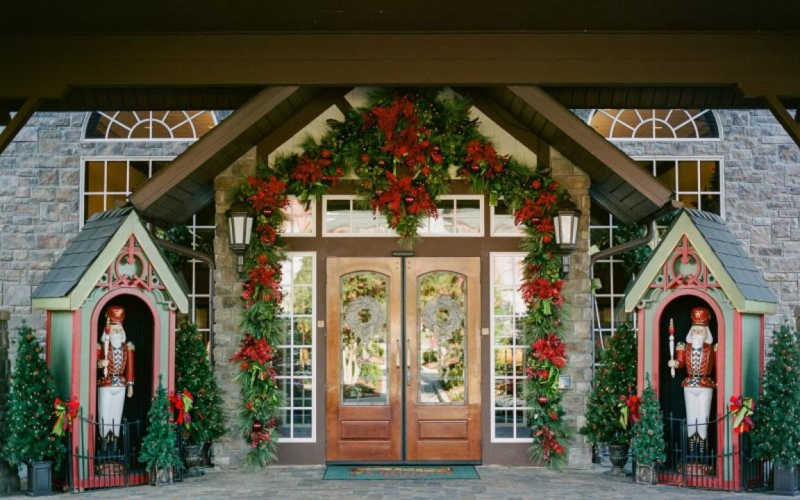 Christmas Tree Inn Pigeon Forge Part - 42: Entrance Doors, The Inn At Christmas Place