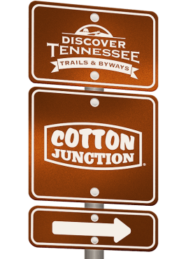 Cotton Junction Trail sign graphic.