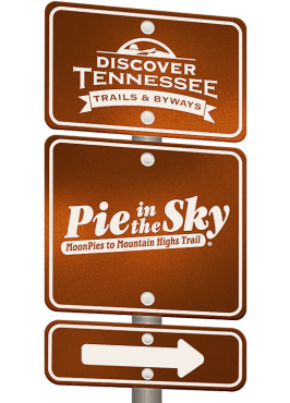 Pie in the Sky Trail sign graphic.