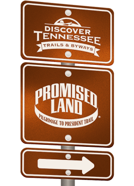 Promised Land Trail sign graphic.