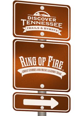 Ring of Fire Trail sign graphic.