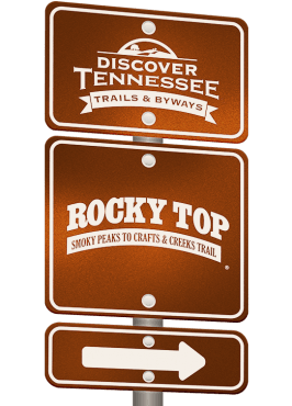 Rocky Top Trail sign graphic.