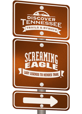 Screaming Eagle Trail sign graphic.