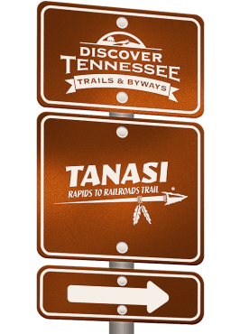 Tanasi Trail sign graphic.