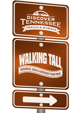 Walking Tall Trail sign graphic.