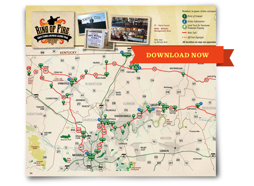 Ring of Fire Trail Nashville – Nashville Tourist Attractions Map