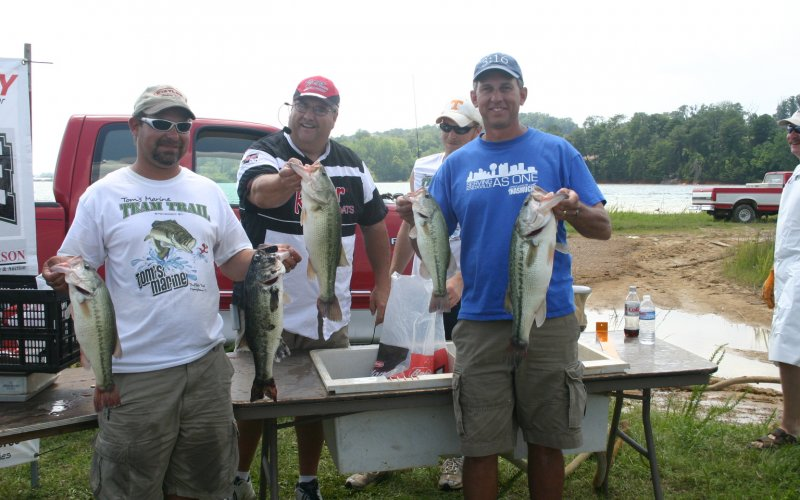 Fishing tournaments on Cherokee Lake